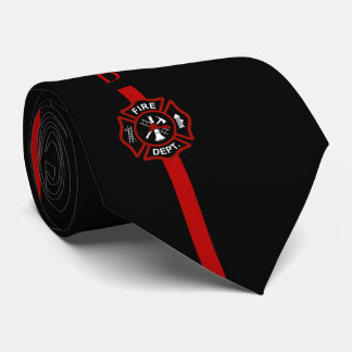 Gravata Linha vermelha fina preto feito sob encomenda das