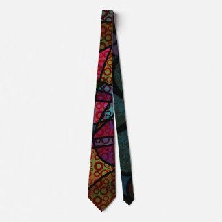 Gravata Linhas pretas corajosas & texturas coloridos,