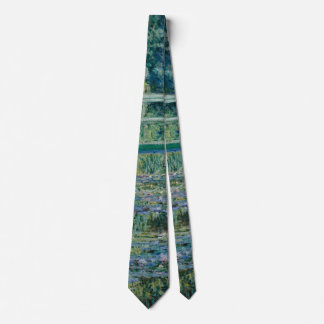 Gravata Lírios de água de Claude Monet e ponte japonesa