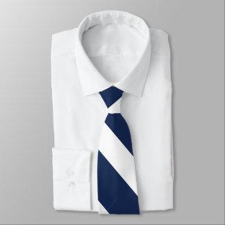 Gravata Listra azul escuro e branca da universidade