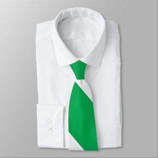 Gravata Listra larga verde e branca da universidade