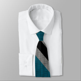 Gravata Listra preta e azul