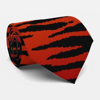 Gravata Listra vermelho escuro da zebra
