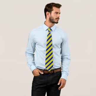 Gravata Listras amarelas e azuis
