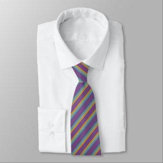 Gravata Listras - amarelo azul roxo