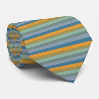 Gravata Listras - Aqua azul amarelo da verde azeitona da