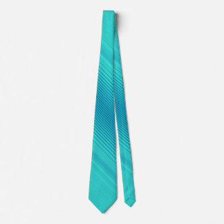 Gravata Listras - azul ciano de turquesa do Aqua