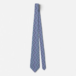 Gravata listras Azul-cinzentas do ziguezague