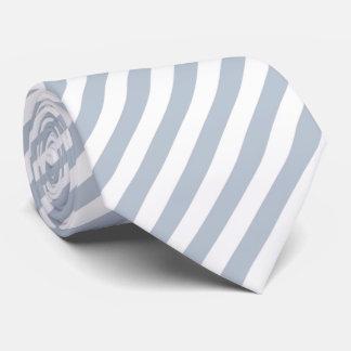Gravata Listras cinzentas e brancas azuis pálido