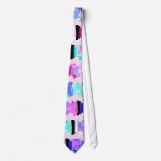 Gravata Listras femininos do curso da escova da aguarela