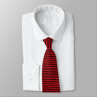 Gravata Listras vermelhas e pretas X 3