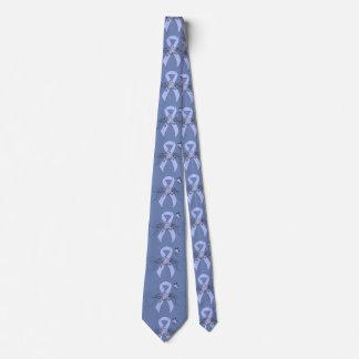 Gravata Luz - fita azul com borboleta