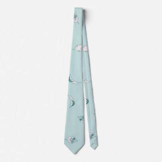 Gravata Luz - folhas do verde e do branco