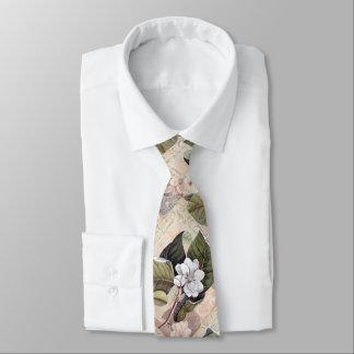 Gravata Magnólia elegante do vintage do senhor do sul
