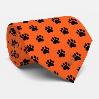 Gravata Mão à moda escarlate de seda tirado da laranja do