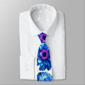 Gravata Margarida azul