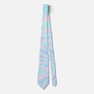Gravata mármore branco roxo azul cor-de-rosa colorido
