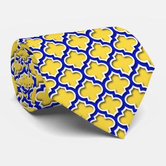 Gravata Marroquino branco Quatrefoil #5DS dos azuis