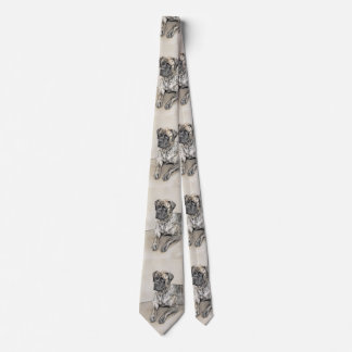 Gravata Mastiff inglês (rajado)