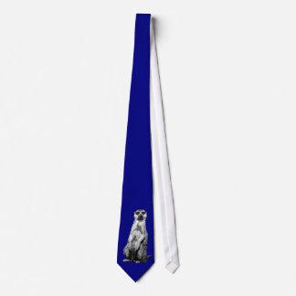 Gravata Meerkat no laço claro dos azuis marinhos