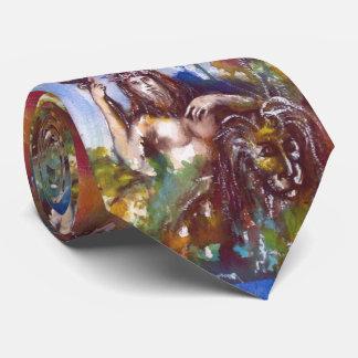 Gravata Mitologia grega Brown azul de JUPITER E de LEÃO