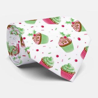 Gravata Natal bonito e doce cupcake colorido