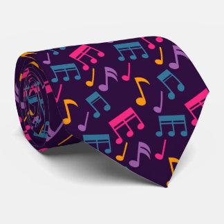 Gravata notas roxas da música