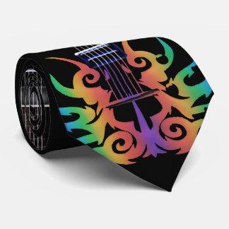 Gravata O arco-íris arde a música da guitarra elétrica