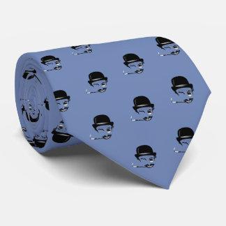 Gravata O Cad absoluto (cinza azul)