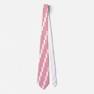 Gravata O design pontilha o branco no doce cor-de-rosa