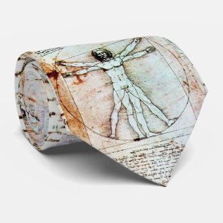 Gravata O HOMEM de VITRUVIAN, pergaminho antigo de Brown