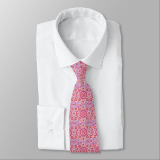 Gravata O laço de seda dos homens cor-de-rosa de Ikat
