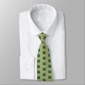 Gravata O laço de seda dos homens, tubarão verde