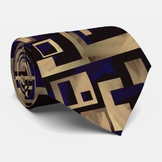 Gravata O laço do homem abstrato dos blocos do preto de