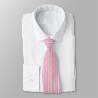 Gravata O laço dos homens com as listras cor-de-rosa
