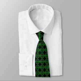 Gravata O laço escuro verde sadio telhou o preto