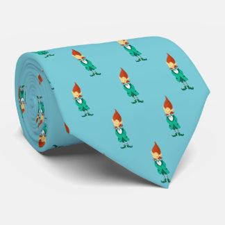 Gravata O Leprechaun afortunado de St Patrick (azul do ovo