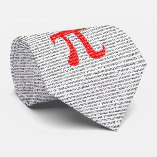 Gravata O número vermelho pi é um símbolo da constante