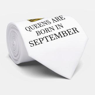 Gravata O Queens é nascido em setembro