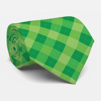 Gravata O verde tonifica a xadrez