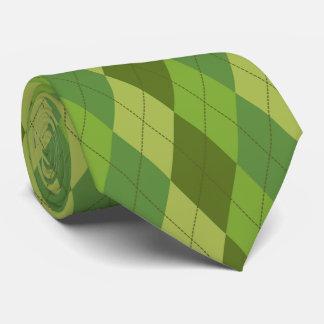 Gravata O verde tonifica o teste padrão geométrico do