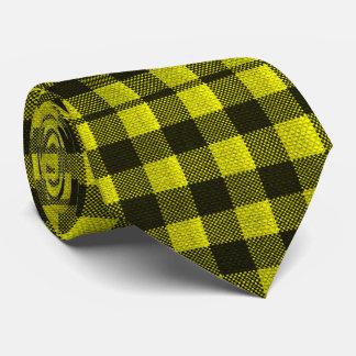 Gravata Olhar Checkered de serapilheira do teste padrão do