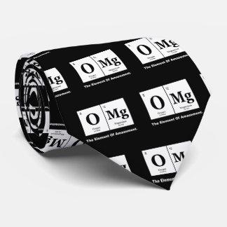 Gravata OMG o elemento da perplexidade, humor da ciência