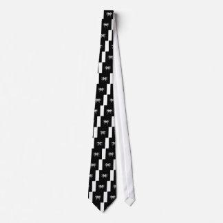Gravata Ornamento brancos pretos do Nordic de Sibéria