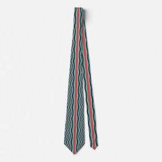 Gravata Ornamento de fluxo azul vermelho