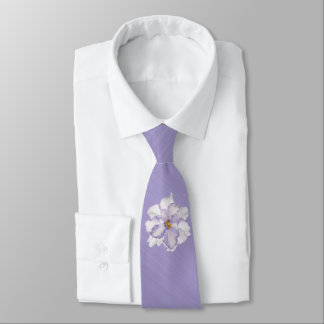 Gravata Orquídea bonita da lavanda