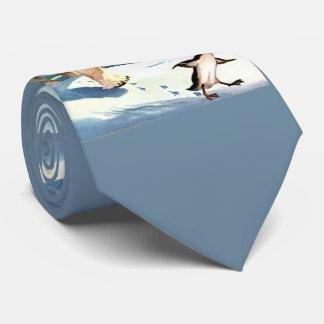 Gravata os anos 40 urso polar e pinguim
