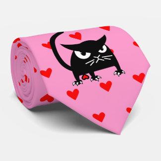Gravata Os namorados engraçados do gato preto amarram |