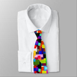 Gravata Os retalhos coloridos mergulham o abstrato moderno