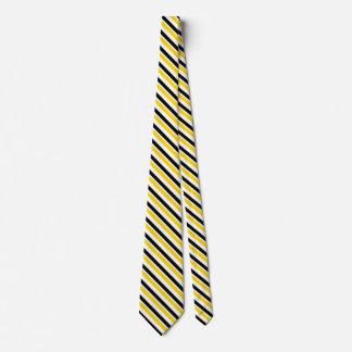 Gravata Ouro amarelo e laço preto da listra da